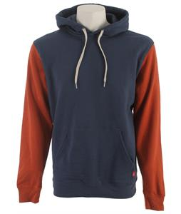 Vans Core Basics Colorblock Pullover Hoodie Dark Denim/Rust Red