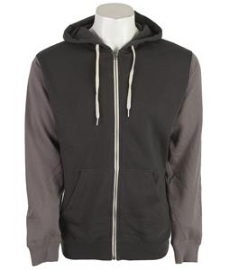 Vans Core Basics Colorblock Zip Hoodie New Charcoal/Graphite