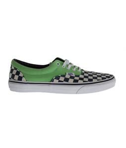 Vans Era Shoes (Van Doren) Checker/Green Flash
