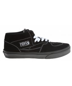 Vans Half Cab Shoes (Suede) Black/White Stitch