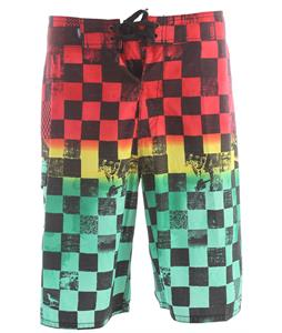 Vans Off The Wall 22In Boardshorts Rasta Scan Check