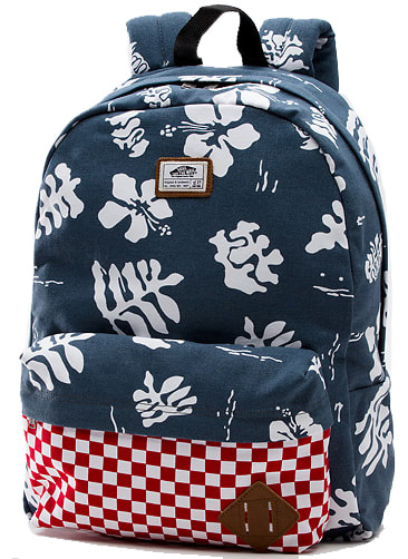 Vans Old Skool II Backpack Red Check/Navy Aloha 22L