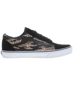 Vans Old Skool Skate Shoes (Suede) Tiger Camo/Black