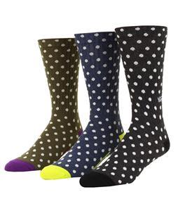 Vans Polka Crew 3 Pack Socks