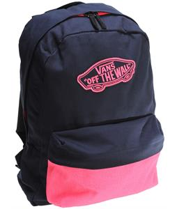 Vans Realm Backpack Dress Blue/Neon Pink 22L