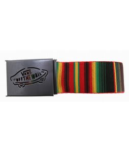 Vans Reverse Web Belt Rasta Stripe/Red