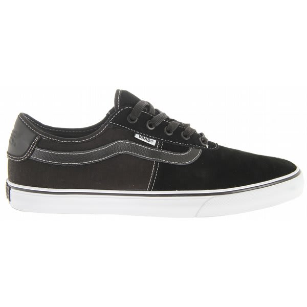 Sale Vans Rowley Spv Skate Shoes Black White Off