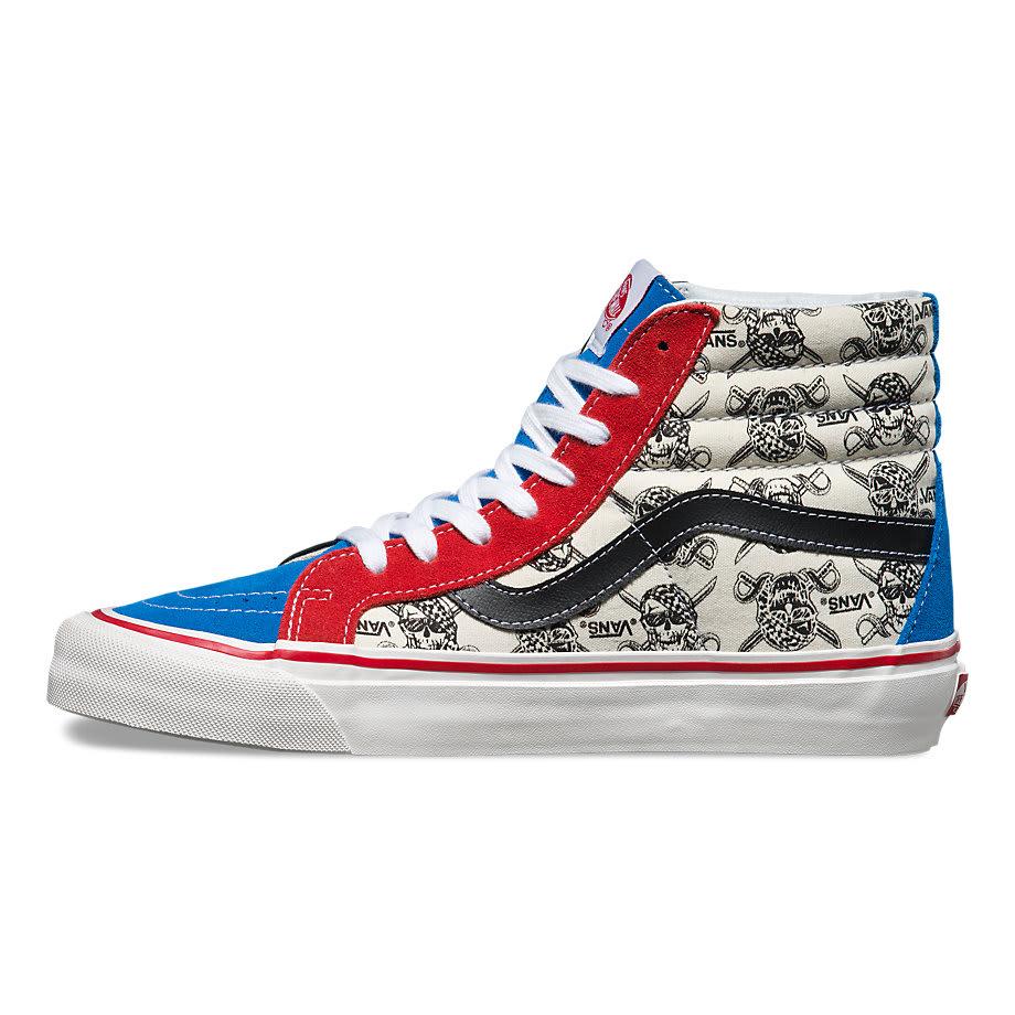 on sale vans sk8 hi 38 reissue skate shoes up to 45 off. Black Bedroom Furniture Sets. Home Design Ideas