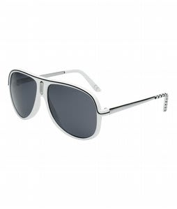 Vans Sport Sunglasses White/Black Lens