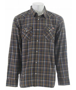 Vans Staggolee L/S Shirt Deep Navy Plaid