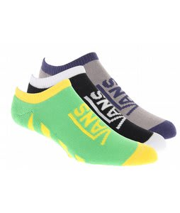 Vans Striped Low Socks Grey/White/Yellow (3 Pack)