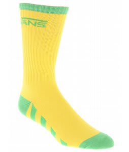 Vans Striped Crew Socks Yellow
