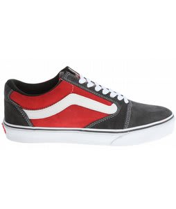 Vans TNT 5 Skate Shoes Charcoal/Scarlet