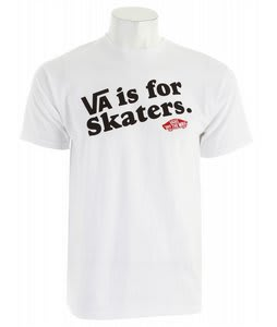 Vans VA Is For T-Shirt White