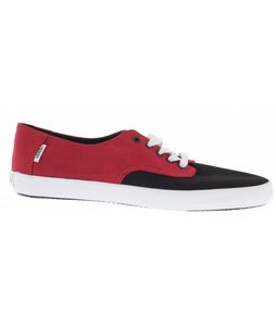 Vans E Street Skate Shoes (Chambray) Red/Black