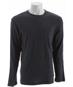 Volcom Albury L/S Slub Heather Shirt Dark Navy