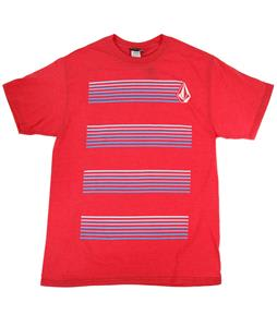 Volcom Asphalt T-Shirt Heather Red