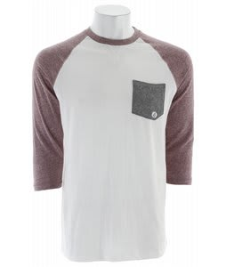 Volcom Base Line 3/4 Sleeve Raglan Off White