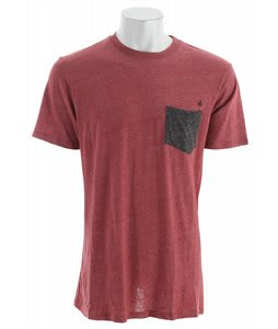 Volcom Caloun Pocket Crew Shirt Lumberjack Red Heather