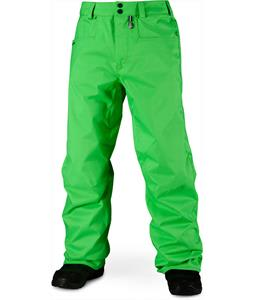 Volcom Carbon Snowboard Pants Electric Green