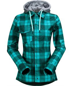 Volcom Circle Flannel Jacket Island Green