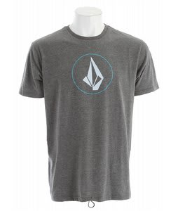 Volcom Circle Stone Surf T-Shirt Black Heather