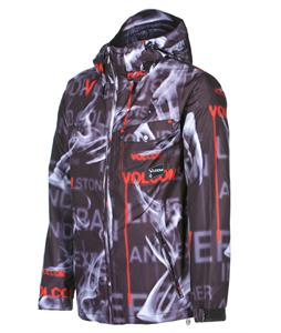 Volcom Construct Snowboard Jacket Text Smoke