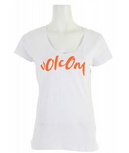 Volcom Core Script Slim Scoop V T-Shirt White