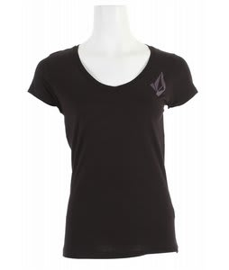 Volcom Corpo Stone Slim Scoop V T-Shirt Black