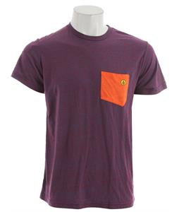 Volcom Dangerous Particle Pocket T-Shirt Red Combo