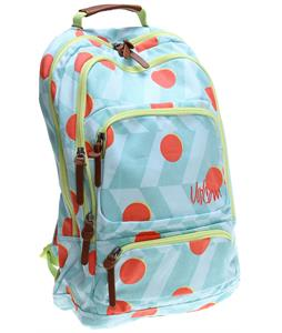 Volcom Deluxe Laptop Canvas Backpack Bleached Aqua 19L