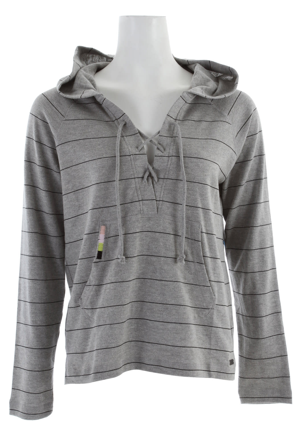 Shop for Volcom Desert Fleur Hoodie Heather Grey - Women's