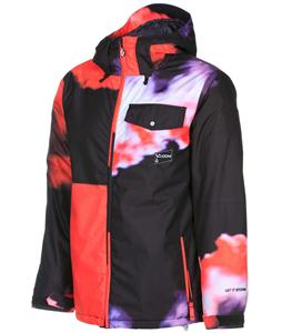 Volcom Discourse Insulated Snowboard Jacket Red Dawn