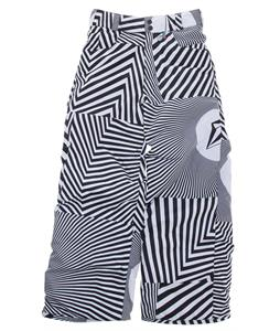 Volcom Discover Insulated Snowboard Pants Volca Stripe White