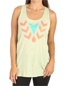 Volcom Down To The Wire Knot Back Tank Faded Yellow Heather