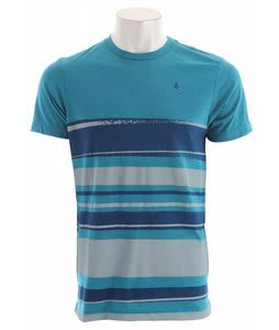 Volcom Drab Stripe T-Shirt Bright Turquoise Heather