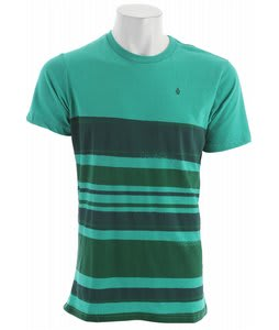 Volcom Drab Stripe T-Shirt Emerald Green Heather