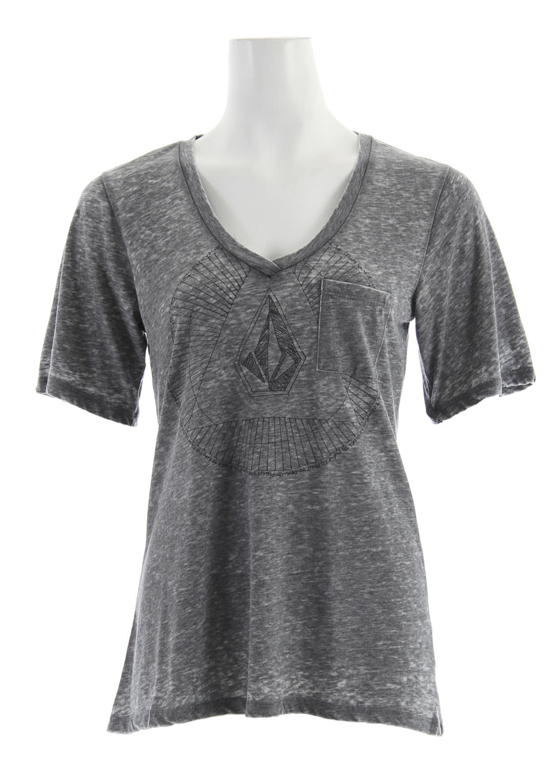 Shop for Volcom Dream Sphere Pocket T-Shirt Charcoal Heather - Women's