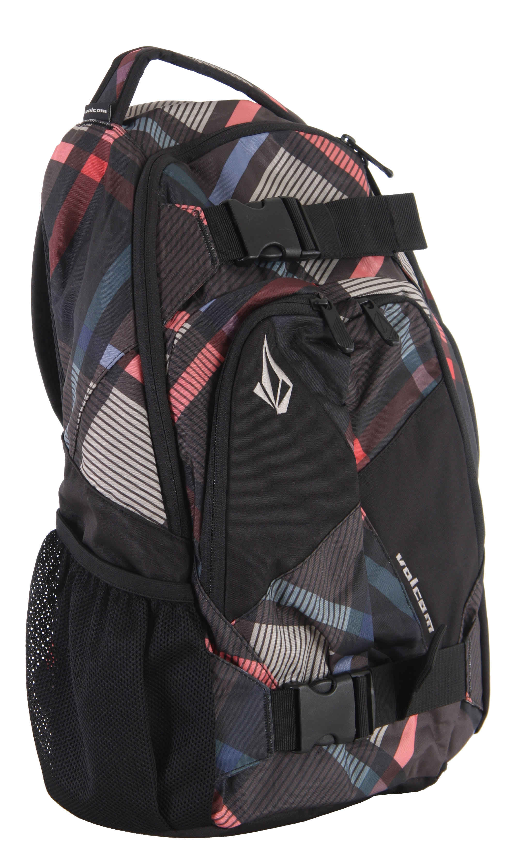 Volcom Equilibrium Backpack Black Plaid
