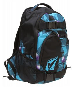 Volcom Equilibrium Backpack Blue Plaid