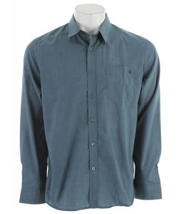 Volcom Ex Factor Solid L/S Shirt Teal Smoke Heather