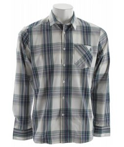 Volcom Ex Factor Plaid L/S Shirt Blue Green