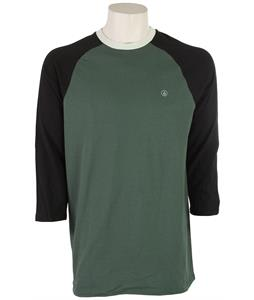 Volcom Fall Peaks 3/4 Raglan Jungle Green