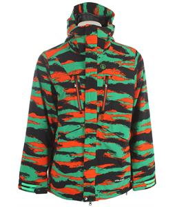 Volcom Fatigue 4 Way Stretch Snowboard Jacket Green