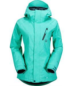 Volcom Fawns Ins Snowboard Jacket Island Green