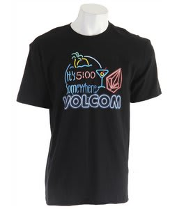 Volcom Five Oclock Somewhere Basic T-Shirt Black