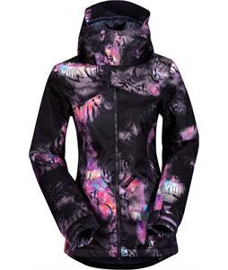 Volcom Flint Ins Snowboard Jacket Black Print
