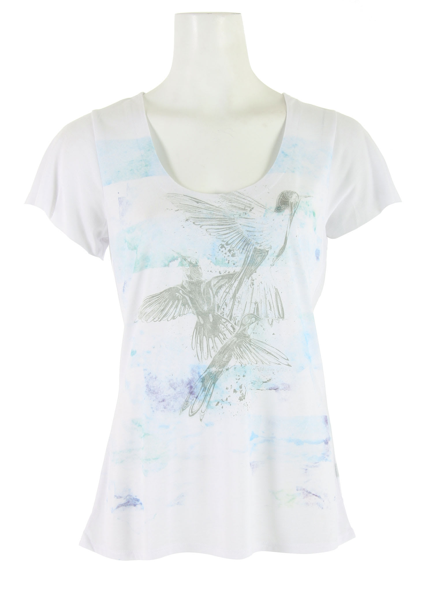 Shop for Volcom Floral Haze Lyric T-Shirt White - Women's