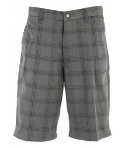 Volcom Frickin Plaid Chino Shorts Grey