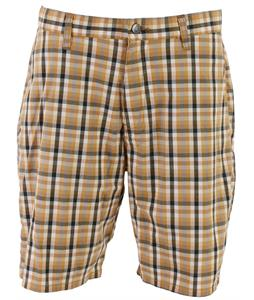 Volcom Frickin Mini Check Modern Stretch Shorts Maple